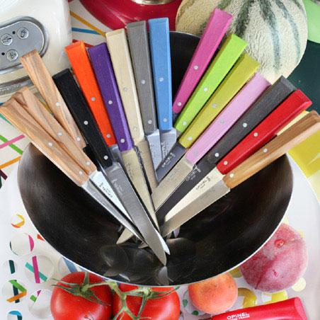 Opinel n 125 serie loft 4 coltelli da tavola colorati - Coltelli da tavola montana ...