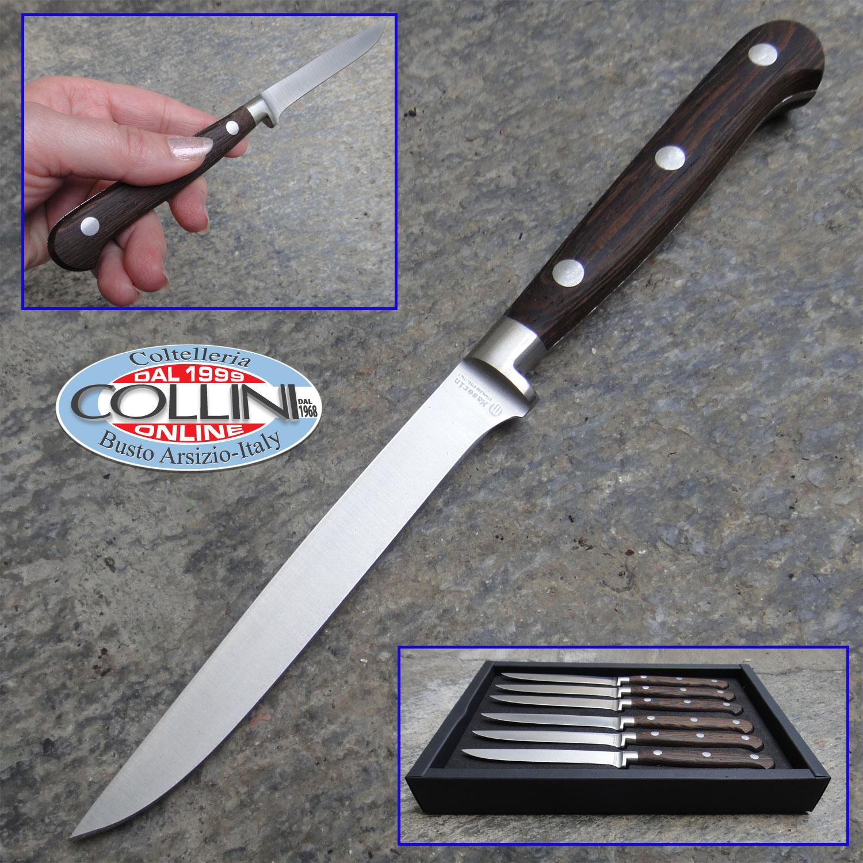 Maserin set 6 coltelli da bistecca forgiati 2411 wenge coltelli da tavola - Coltelli da tavola montana ...