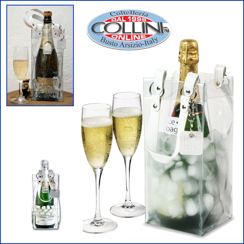Ice bag porta bottiglie leather like rinfrescatore - Portaghiaccio per bottiglie ...