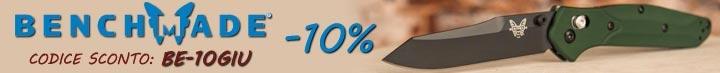 Sconto 10% su tutto il catalogo Benchmade