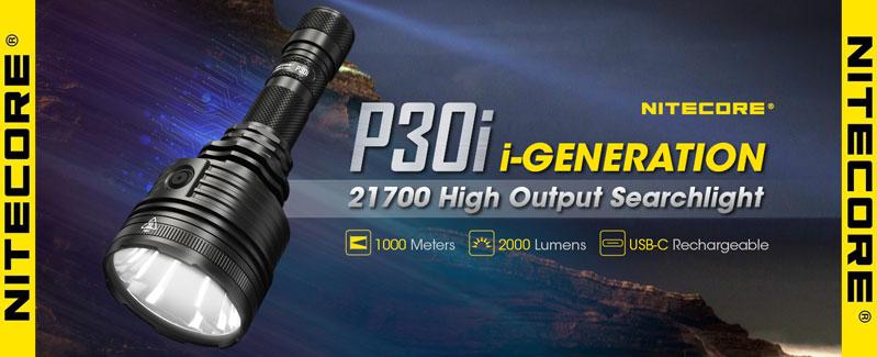 Nitecore - la potentissima P30i da 2000 lumens e 1000 metri di fascio luminoso