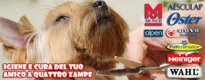 Máquinas de cortar el pelo, cepillos, champús, tijeras, todo para el cuidado de su mascota