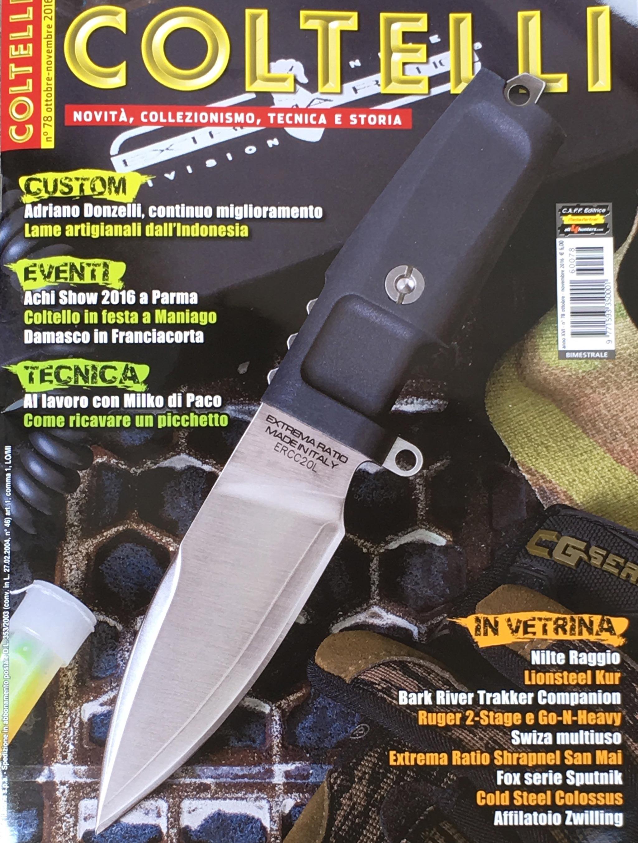 shrapnel rivista coltelli