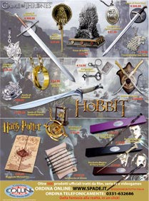 prodotti ufficiali tratti da film, Harry Potter, Lo Hobbit, Game of Thrones