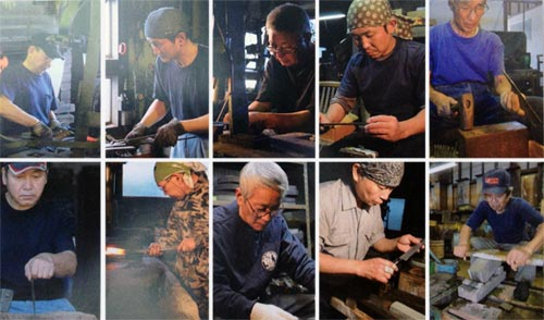 Takefu Knife Village craftsmen